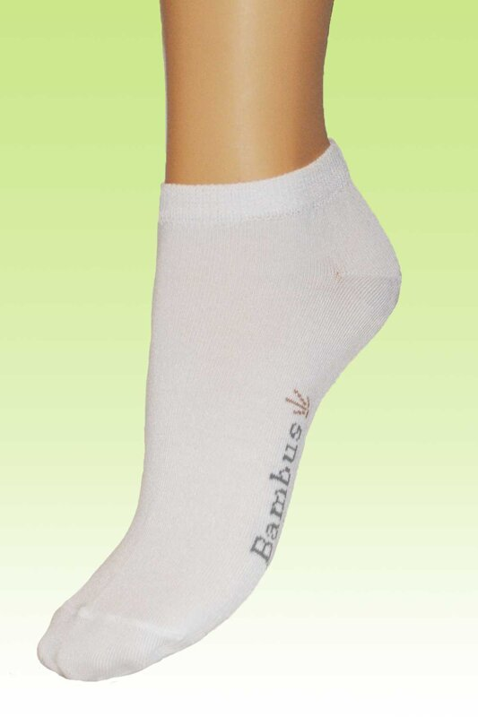 biela zelená bambová letná ponožka 19c3935721
